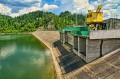 Zapora od strony Jeziora Czorsztyńskiego