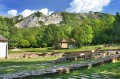 Fundamenty klasztoru i Góry Bukowe