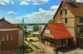 Widok z zamku na miasto i jezioro Ryńskie
