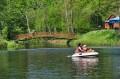 Łódki w parku rozrywki