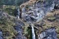Część górna i fragment dolnej wodospadu