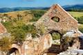 Widok z tarasu na ruiny