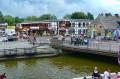 Centrum Łeby z mostem na kanale