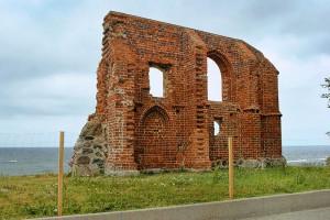 TRZĘSACZ - Ruiny kościoła na klifie i taras widokowy