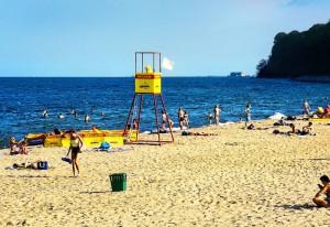 Część strzeżona plaży
