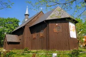 GĄSAWA - Drewniany kościół z barokowymi malowidłami