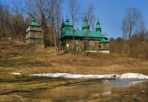 SZCZAWNE - Drewniana cerkiew