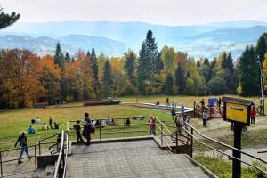 KRYNICA ZDRÓJ - Góra Parkowa z kolejką szynową