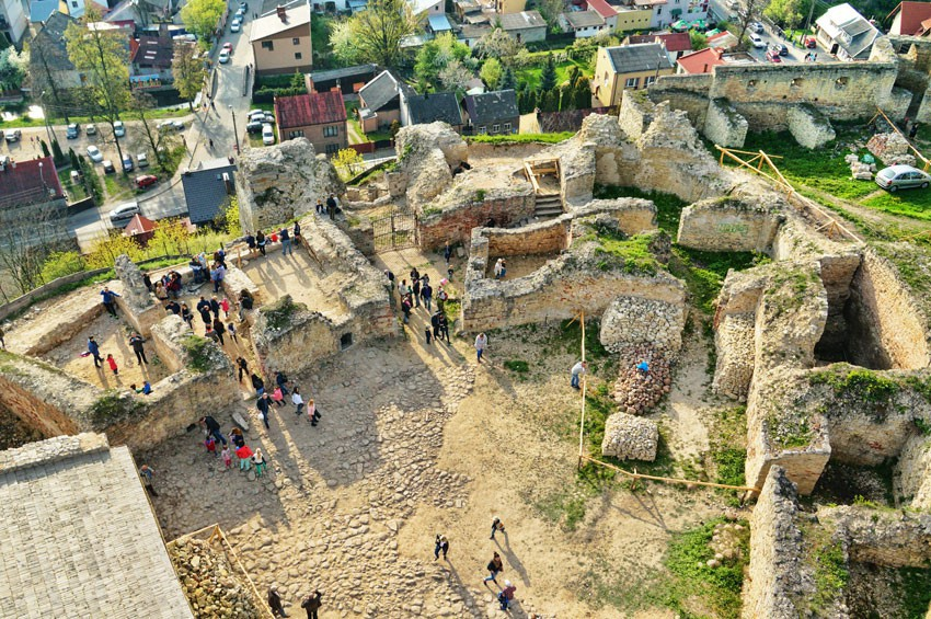 Zamek górny z baszty