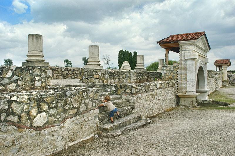 Pozostałości rzymskich zabudowań