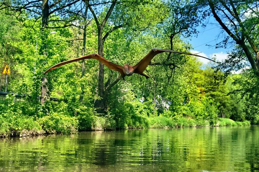 Na spływie można spotkać dinozaury!