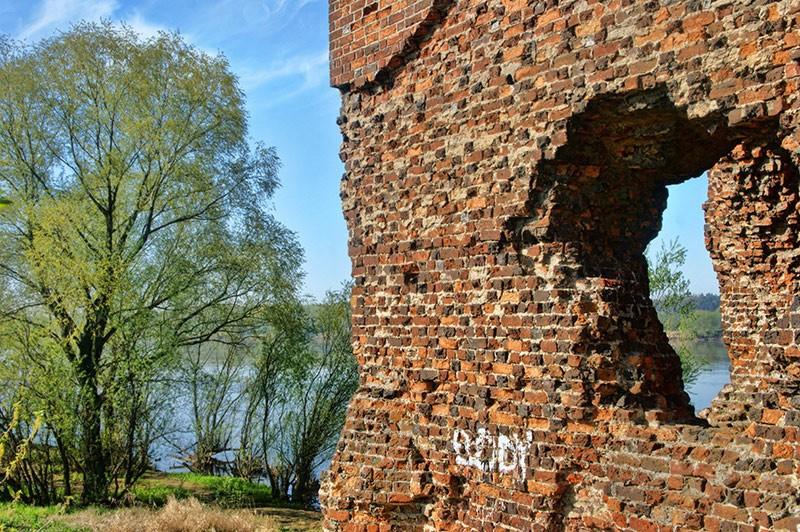 Mury zamku i Wisła